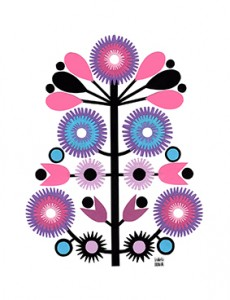 Papercut happy tree // wycinaki by Izabela Nowak Design
