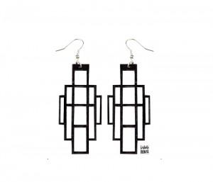 004 jewelry Izabela Nowak wood earrings