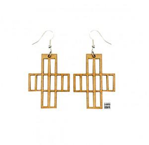 007 Izabela Nowak earrings wood jewelry
