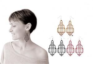 018 jewelry Izabela Nowak wood earrings