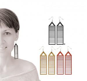 021 Jewelry wood earrings Izabela Nowak2