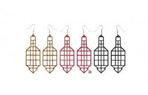 023 Jewelry wood earrings Izabela Nowak 2 sm