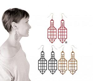 024 Jewelry wood earrings Izabela Nowak