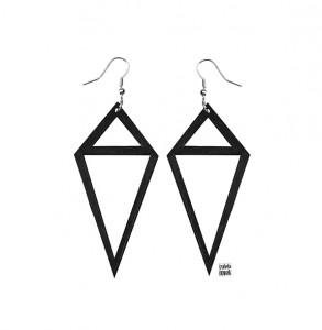 025 Jewelry wood earrings Izabela Nowak
