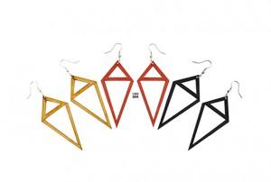 026 Jewelry wood earrings Izabela Nowak