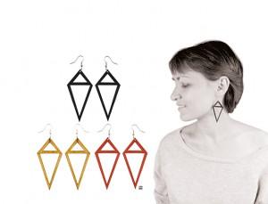 027 Jewelry wood earrings Izabela Nowak