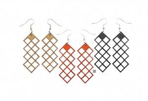 029 Jewelry wood earrings Izabela Nowak