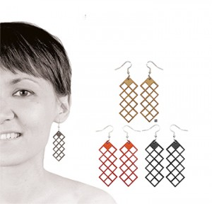 030 Jewelry wood earrings Izabela Nowak