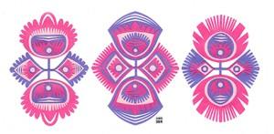 Papercutting flowers // wycinanki by Izabela Nowak